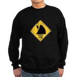 Falling Cow Zone Yellow Sweatshirt (dark)