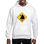 Falling Cow Zone Yellow Hooded Sweatshirt