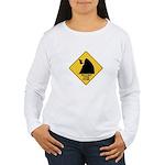 Falling Cow Zone Yellow Women's Long Sleeve T-Shir