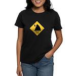 Falling Cow Zone Yellow Women's Dark T-Shirt