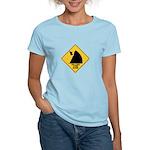 Falling Cow Zone Yellow Women's Light T-Shirt