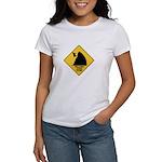 Falling Cow Zone Yellow Women's T-Shirt