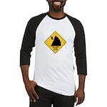 Falling Cow Zone Yellow Baseball Jersey