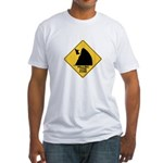 Falling Cow Zone Yellow Fitted T-Shirt