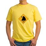 Falling Cow Zone Yellow Yellow T-Shirt