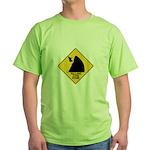Falling Cow Zone Yellow Green T-Shirt