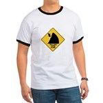 Falling Cow Zone Yellow Ringer T