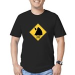 Falling Cow Zone Yellow Men's Fitted T-Shirt (dark