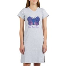 Butterfly. Custom Text. Women's Nightshirt