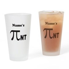 Personalize a Funny Pi Pi-nt © 2011 Drinking Glass