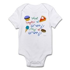 """What happens at Grammy's stays"" Infant Bodysuit"