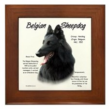 Belgian Sheepdog Framed Tile