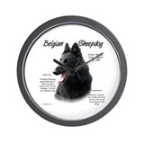 Belgian Sheepdog Wall Clock