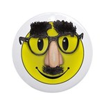 Smiley Disguise Ornament (Round)