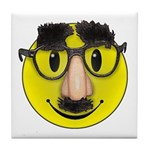 Smiley Disguise Tile Coaster
