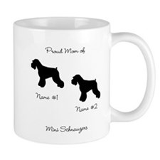 2 Schauzers - Cropped Tails/Natural Ears Mug