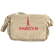 Parkour, Pink, Stand Up! Messenger Bag