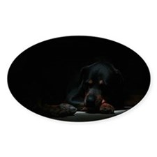 Sleeping Rottweiler Decal