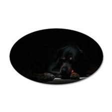 Sleeping Rottweiler Wall Decal