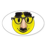 Smiley Disguise Cute Oval Sticker