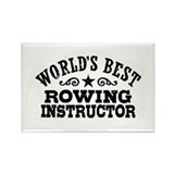 World's Best Rowing Instructor Rectangle Magnet
