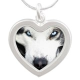 eyes.png Silver Heart Necklace
