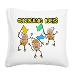 Colorguard Rocks Square Canvas Pillow