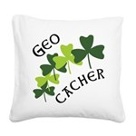 FG_GeoShamrock.png Square Canvas Pillow
