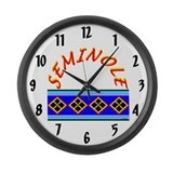 SEMINOLE INDIAN PATCHWORK Large Wall Clock