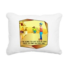Geocaching First to Find Rectangular Canvas Pillow