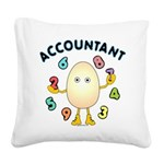 Accountant Square Canvas Pillow