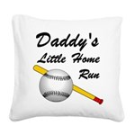 Dad's Home Run Square Canvas Pillow