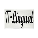 Pi Lingual Funny Math Rectangle Magnet