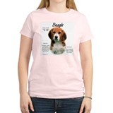 Beagle  Women's Pink T-Shirt
