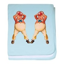 Tweedledee and Tweedledum baby blanket