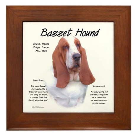 Basset Hound Framed Tile