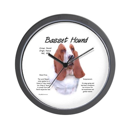 Basset Hound Wall Clock