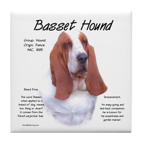 Basset Hound Tile Coaster
