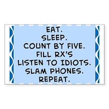 Pharmacist eat sleep blanket.PNG Decal