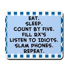 Pharmacist eat sleep blanket.PNG Mousepad