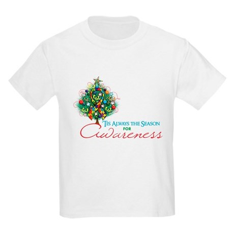 Puzzle Ribbon Xmas Tree Kids Light T-Shirt