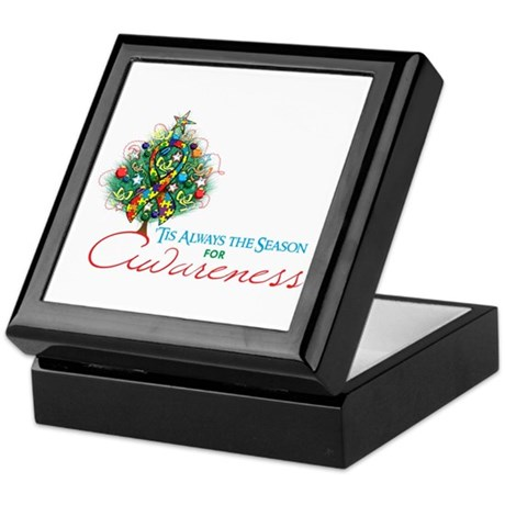 Puzzle Ribbon Xmas Tree Keepsake Box