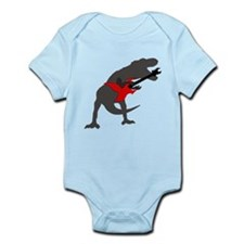 T-rex Playing the Guitar Infant Bodysuit