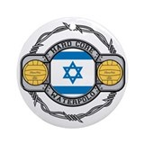 Israel Water Polo Ornament (Round)