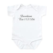 Davidson   Est 11/11/06 Infant Bodysuit