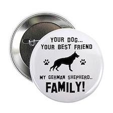 "German Shepherd dog breed designs 2.25"" Button (10"
