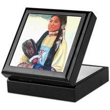 Navajo Girl Keepsake Box