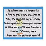 Pharmacist pillow blanket 1.PNG Throw Blanket
