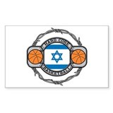Israel Basketball Rectangle Decal