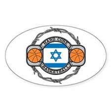 Israel Basketball Oval Decal